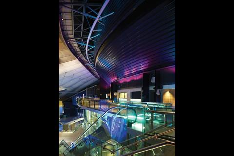 The London 02 was also designed by Populous, formerly known as HOK Sport. There are restaurants and a cinema in the concourse surrounding the main auditorium which sits in the centre of the old millennium dome